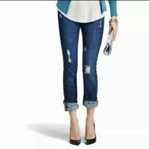 Cabi slim boyfriend distress jeans women size 2